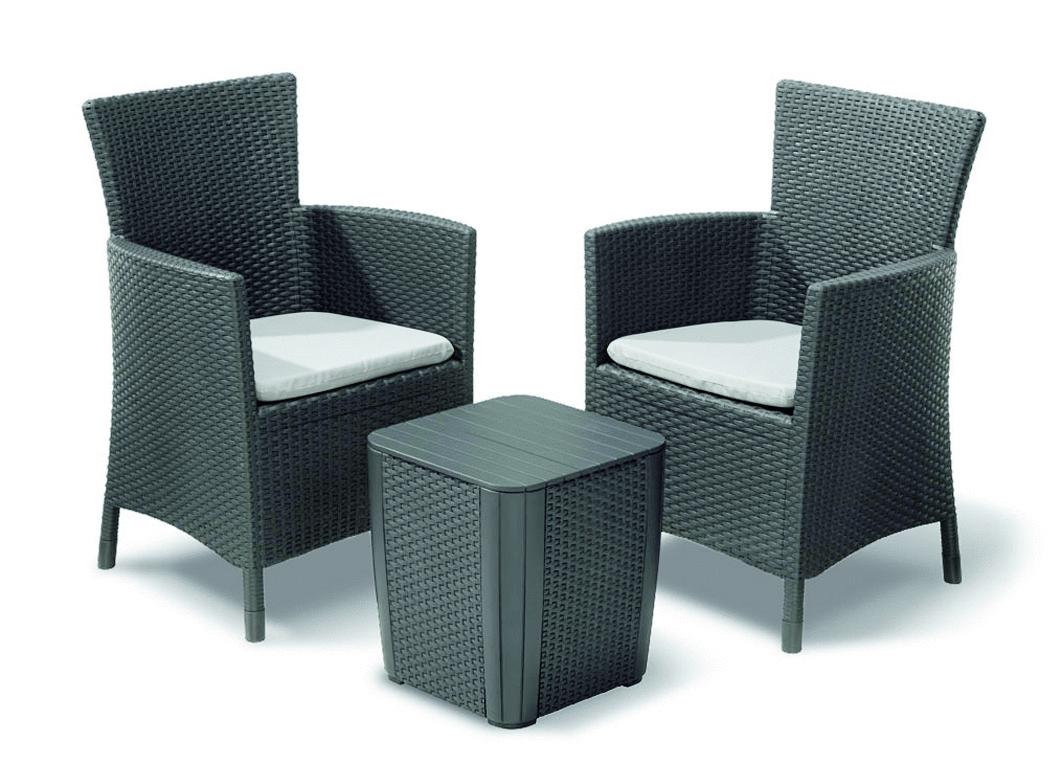 3 tlg balkon set napoli graphit hellgrau ebh betriebseinrichtungen gmbh. Black Bedroom Furniture Sets. Home Design Ideas